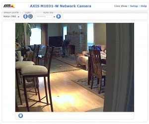 View from Axis camera